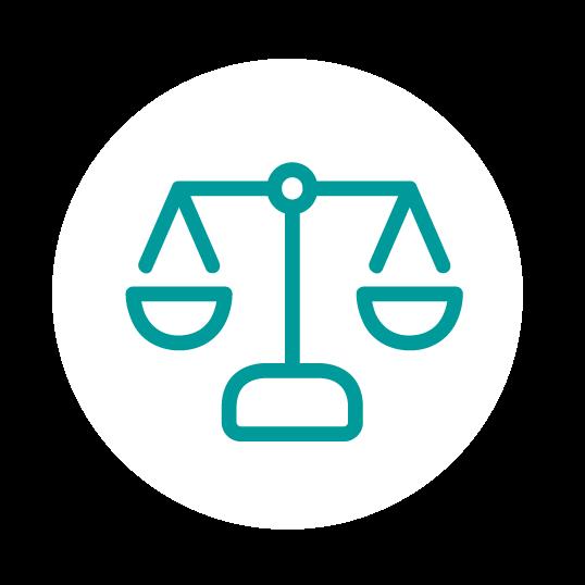 icono de una Balanza para el apartado de famili y divorcio en Galicia