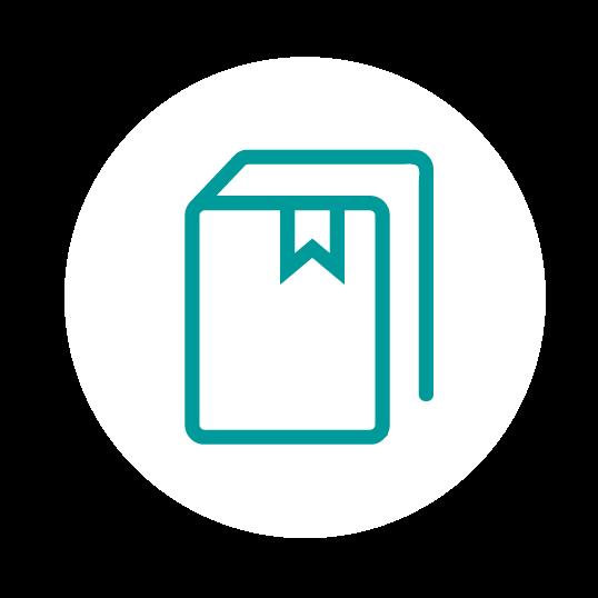 icono de libro para redacción e revisión de contratos mercantiles A Coruña